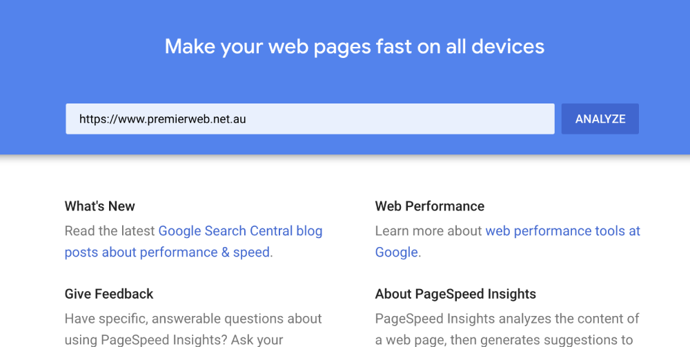 Google PageSpeed Insights can help your SEO